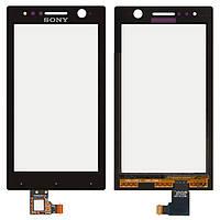 Touchscreen (сенсорный экран) для Sony Xperia U ST25i, черный, оригинал