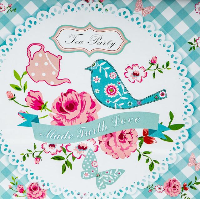"""Поднос """"Tea party"""", металл (34х24х2 см.) (фото)"""