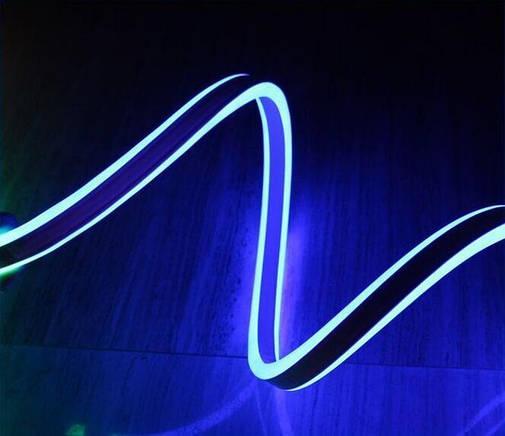 Двусторонняя LED неоновая излучающая лента LTL FLEX 8х16mm 120 LED 2835smd IP67 220v Blue, фото 2