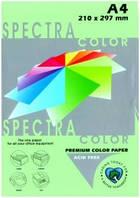 Бумага цветная для принтеров 100 листов А4 80 г/м2 Spectra пастельная Green190 зеленая