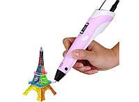 3д ручка c LCD дисплеем 3D Pen-2, розовая