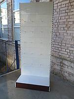 Стеллаж торговый пристенный перфорированный торговые стеллажи б у., фото 1