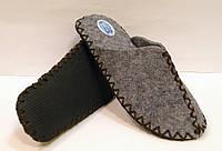 Эксклюзивные войлочные тапочки женские для дома с коричневым шнурком 38-39р, фото 1