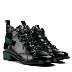 Ботинки женские BROCOLI (модный дизайн, удобные, на шнурках)