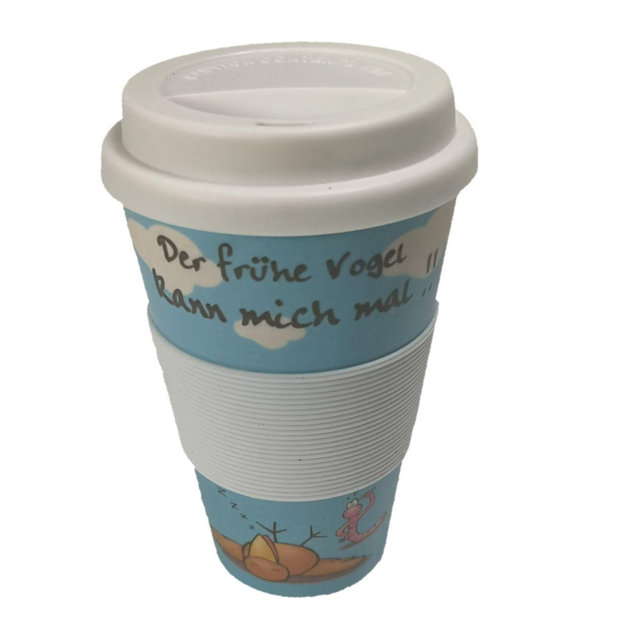 Кофейная кружка to Go Becher 350ml Bambus Vogel