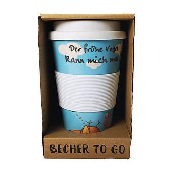 Кофейная кружка to Go Becher 350ml Bambus Vogel, фото 2