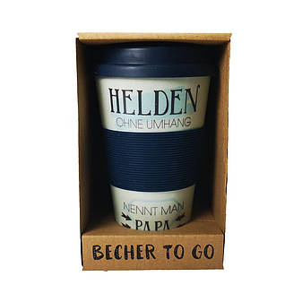 Кофейная кружка to Go Becher 350ml Bambus Hendel, фото 2