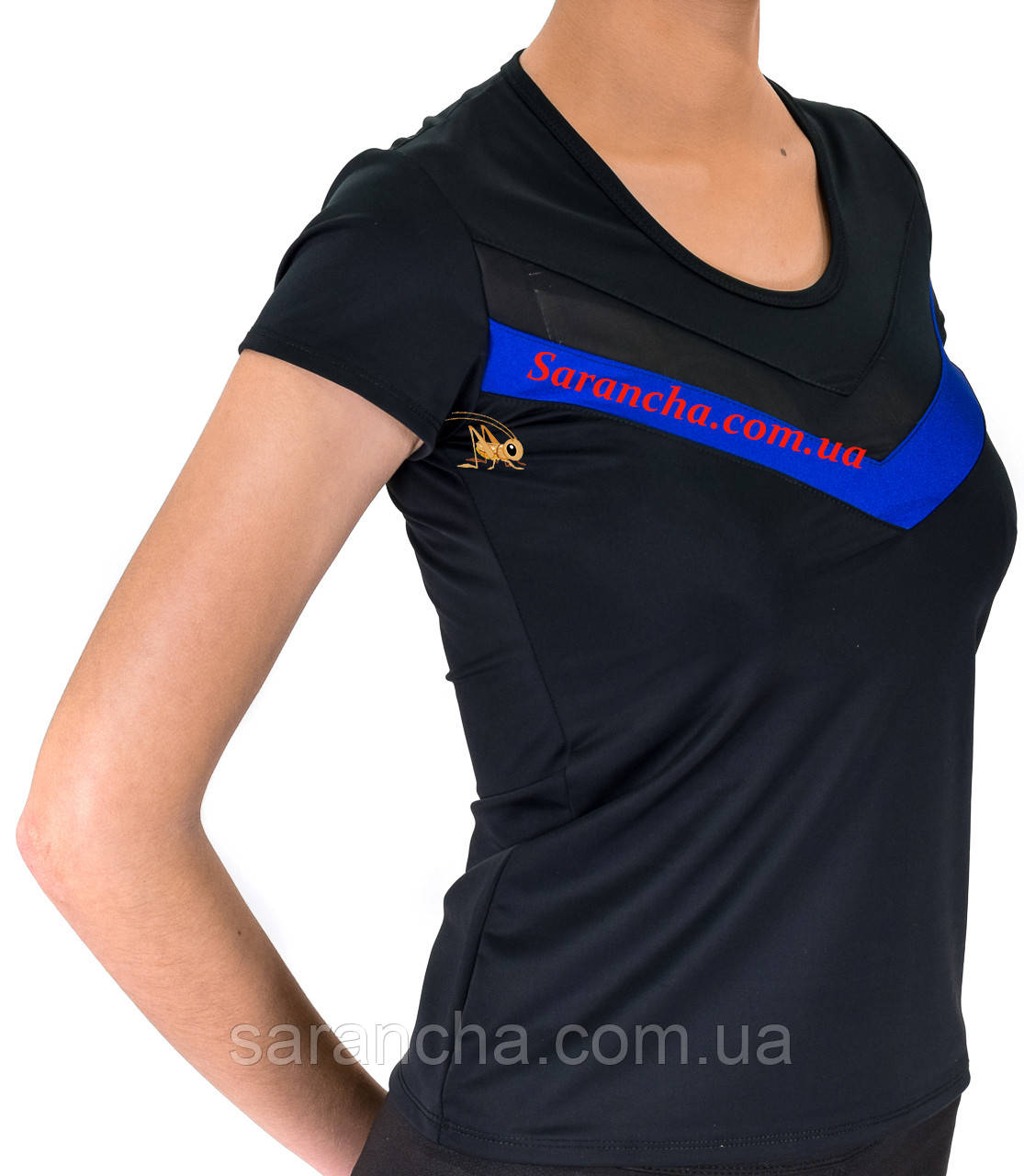 Женская футболка-стретч с коротким рукавом