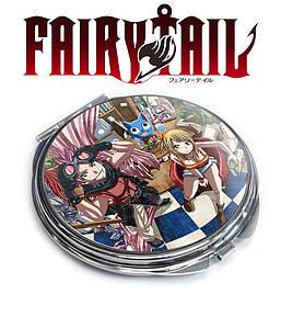 "Карманное зеркальце Хвост Феи ""Нацу и Люси"" / Fairy Tail"