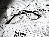 Имиджевые очки круглые классика топовые в серебряной оправе прозрачные кроты тишейды стиль Леннон Лепс VIM