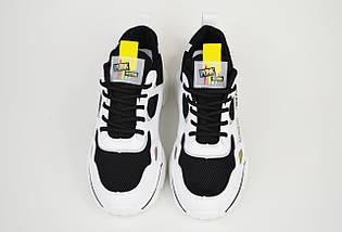 Кросівки літні Sopra 9369 Чорно-Білі, фото 3