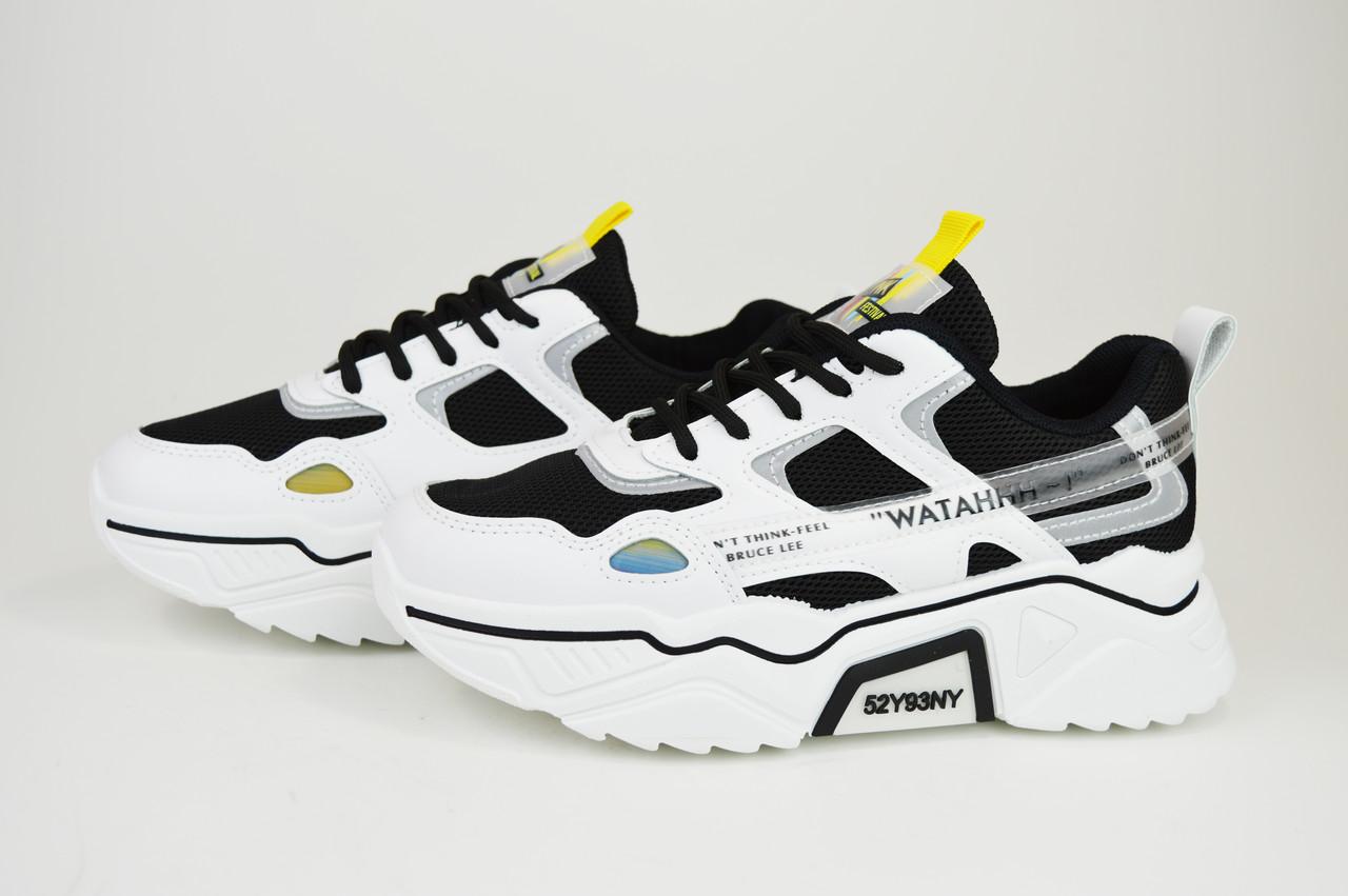 Кросівки літні Sopra 9369 Чорно-Білі