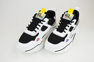 Кросівки літні Sopra 9369 Чорно-Білі, фото 2