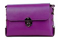 Итальянская женская сумка из натуральной кожи. Цвет: Фиолетовый, фото 1