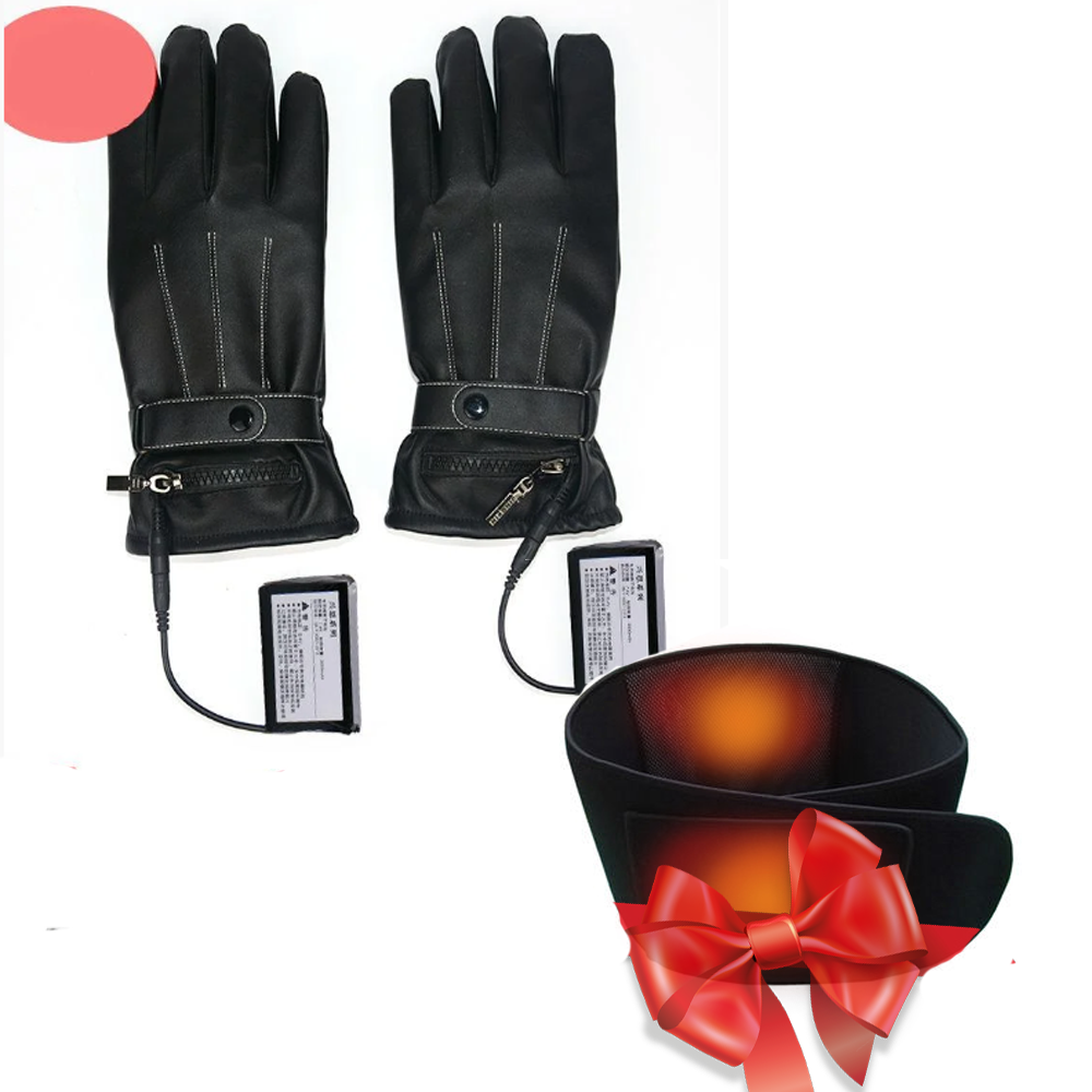 """Распродажа! Перчатки с подогревом пальцев """"Eco-Obogrev FASHION"""" 3000 мАч + Неопреновый пояс с подогревом"""