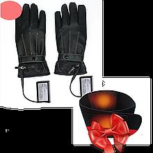 """Розпродаж! Рукавички з підігрівом пальців """"Eco-Obogrev FASHION"""" 3000 маг + Неопреновий пояс з підігрівом"""