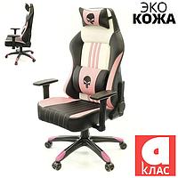 Кресло АКЛАС Мидж PL RL Черно-розово-белое