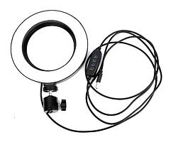 Кольцевая лампа для блогеров (26 см. диаметр кольца) +мини-студийный Трипод, фото 2