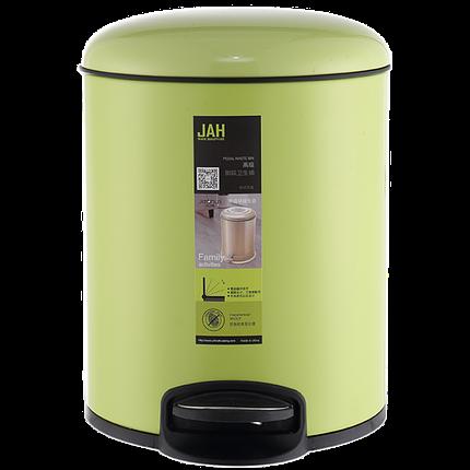Ведро для мусора JAH 12 л (алюминий, цвет зеленый, внутреннее ведро), фото 2