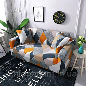 Чехол на диван универсальный для мебели цвет шапито 90-140см