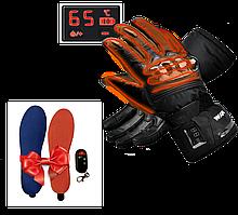Розпродаж! Рукавички з підігрівом WINNA P-1 LED 7.4 V 2200 + Устілки з підігрівом Ultra-sport 2000