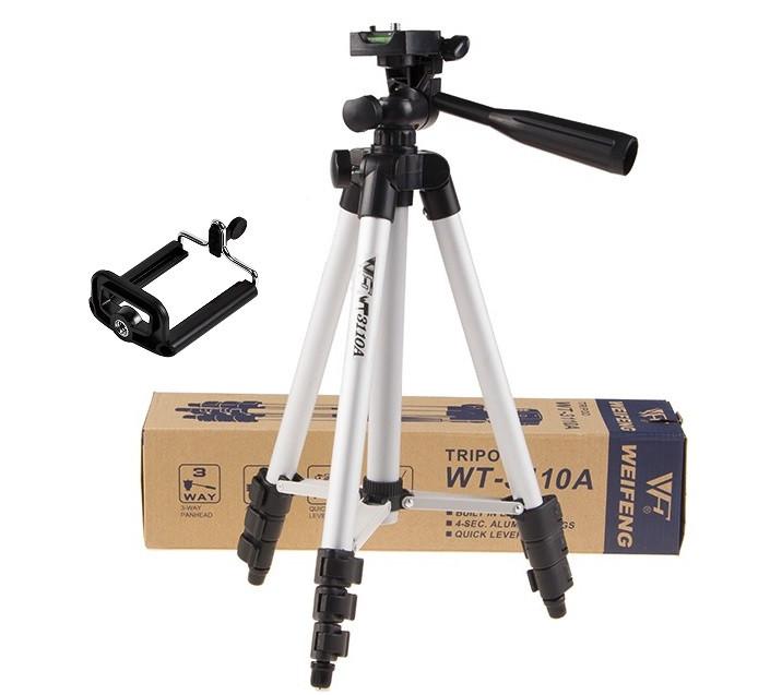 Универсальный штатив Tripod 3110 (102 см) для камеры с креплением для телефона