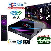 СМАРТ ПРИСТАВКА H96 MAX 4/32GB ANDROID SMART TV BOX