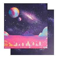 Бумага для скрапбукинга «За галактикой», 30.5 × 32 см, 180 гм