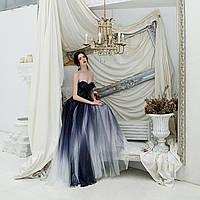 Вечірня сукня Вечерние Выпускное платье пышное омбре А силует ручной работы.