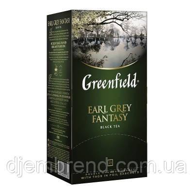 Чай Greenfield Earl Grey Fantasy - черный с Бергамотом, 25 шт