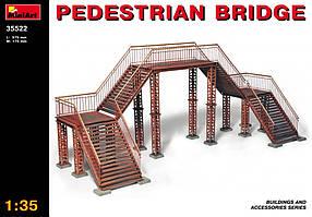Железнодорожный пешеходный мост. Сборная модель в масштабе 1/35. MINIART 35522