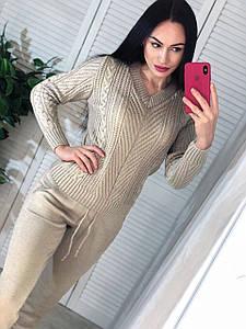Женский вязаный костюм