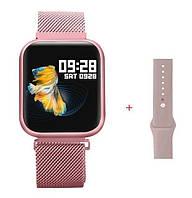 Смарт часы,фитнес-браслет два браслета,умные часы, Apple band T80, с функцией тонометра и пульсометра