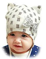 """Детская шапка """"Шура"""" на завязках"""