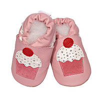 Детские мокасины из натуральной кожи SHOOSHOOS GPK40 Pink Cupcake (размер S)