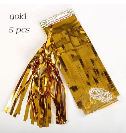 Гірлянди (пензлика) тассель золото 5шт. - 25см, фольга
