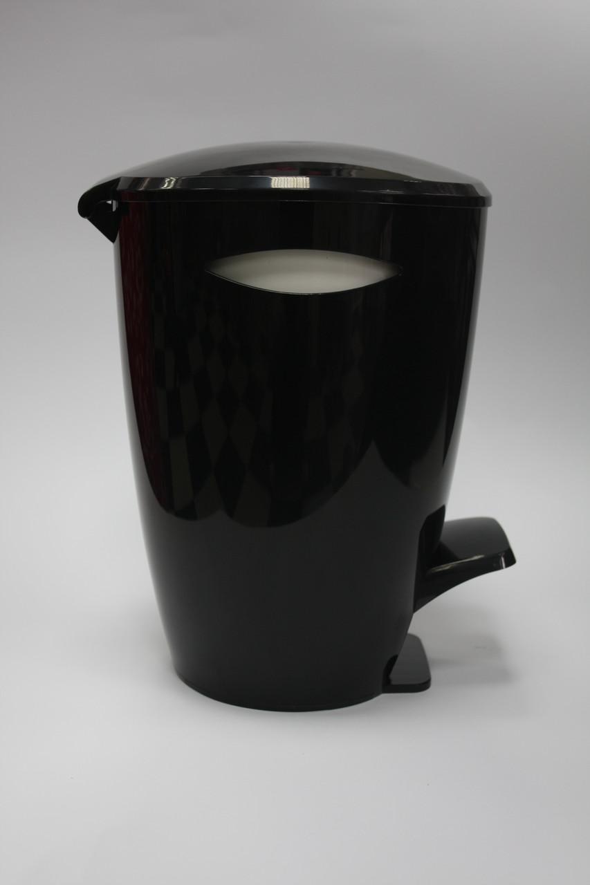 Ведро для мусора Фелиа цвет черный/белый