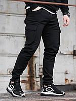 Мужские стрейчевые карго брюки черные BEZET Tactic black '20