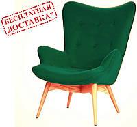 Дизайнерское кресло Флорино кашемир зеленый ножки бук СДМ группа(бесплатная доставка)