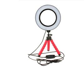 Кільцева лампа для блогерів (26 см. діаметр кільця) +міні-студійний Трипод, фото 3