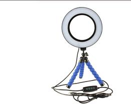 Кільцева лампа для блогерів (26 см. діаметр кільця) +міні-студійний Трипод, фото 2