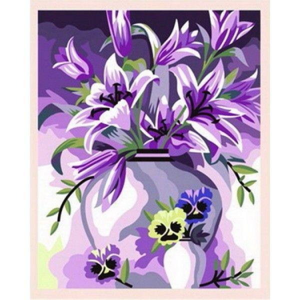 Рисования по номерам Идейка  Элегантные лилии
