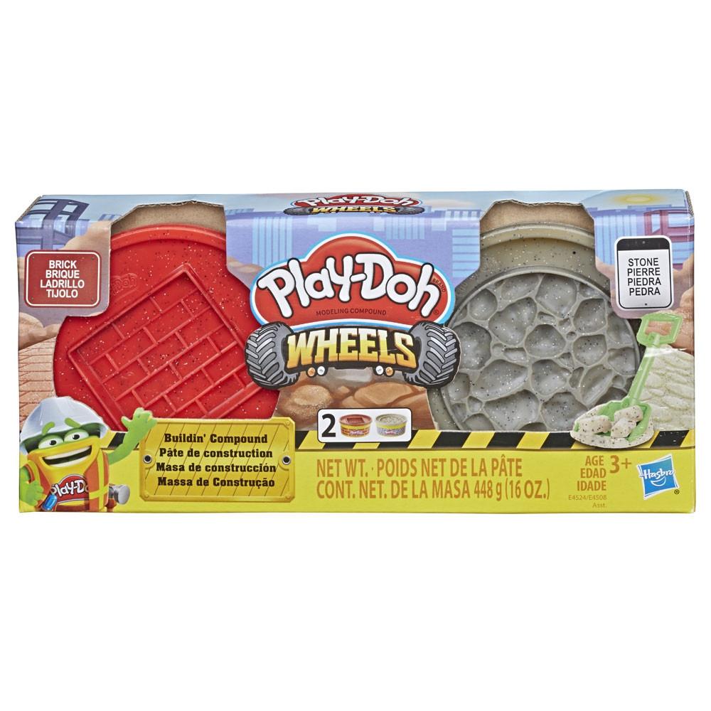 Play-doh Wheels Игровой набор Кирпич и Камень 448 г E4524 E4508 Buildin' Compound