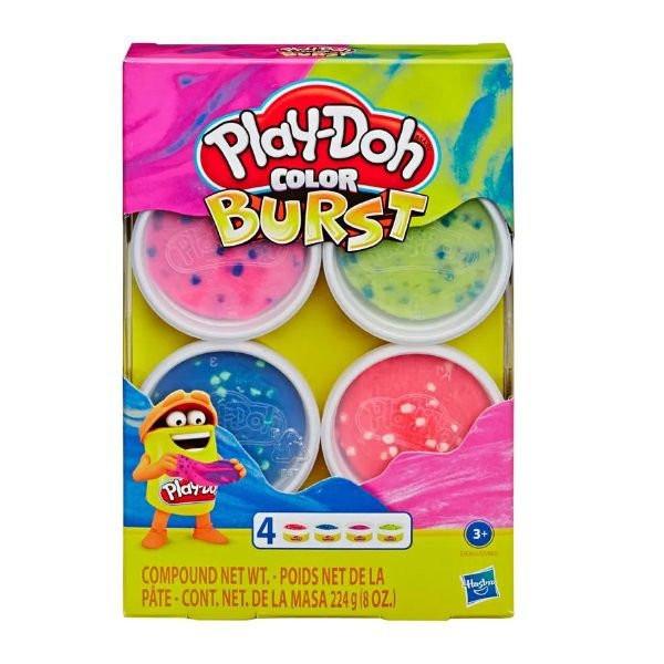 Play-doh Color Burst Цветной Взрыв 4 баночки 224 грамма E8060 E6966 Bright Pack