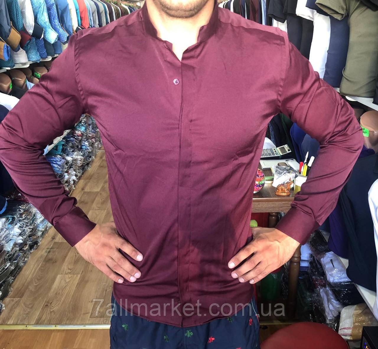 """Рубашка мужская японский воротник, размеры S-2XL (4 цв.) """"A.ROSSI"""" купить недорого от прямого поставщика"""