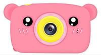 Цифровой фотоаппарат для детей Smart Kids Camera 3, (Pink Bear),  20MP
