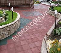 Резиновая плитка для сада. Плитка для садовых дорожек