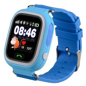 Smart часы детские с GPS Q90, голубые