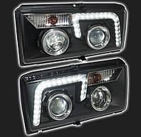 Передние фары ВАЗ 2107-2105-2104 (Чёрные)