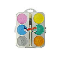 Краски Malinos акварельные Maxi Perleffekt перламутровые, в наборе 6 цветов SKL17-149643